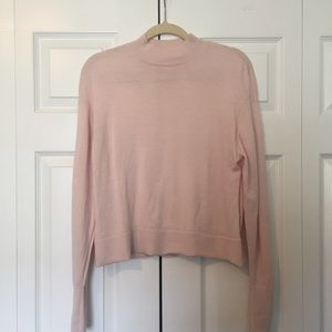 Everlane Sweaters - Everlane Luxe Wool Square Crop Mockneck in Pink